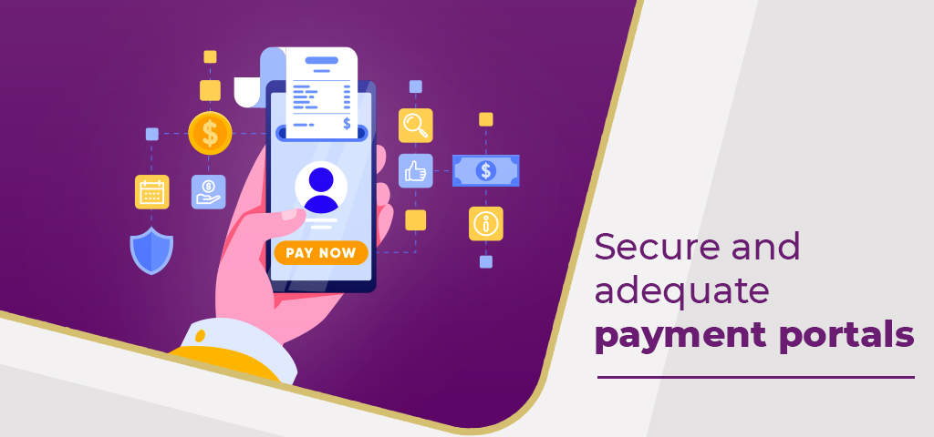 Secure and adequate payment portals